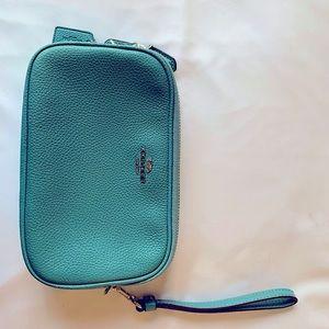 Coach camera bag- double zipper/wristlet/crossbody